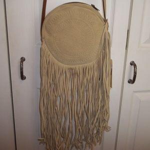 NWT Patricia Nash Rovito Sand Fringe Crossbody Bag
